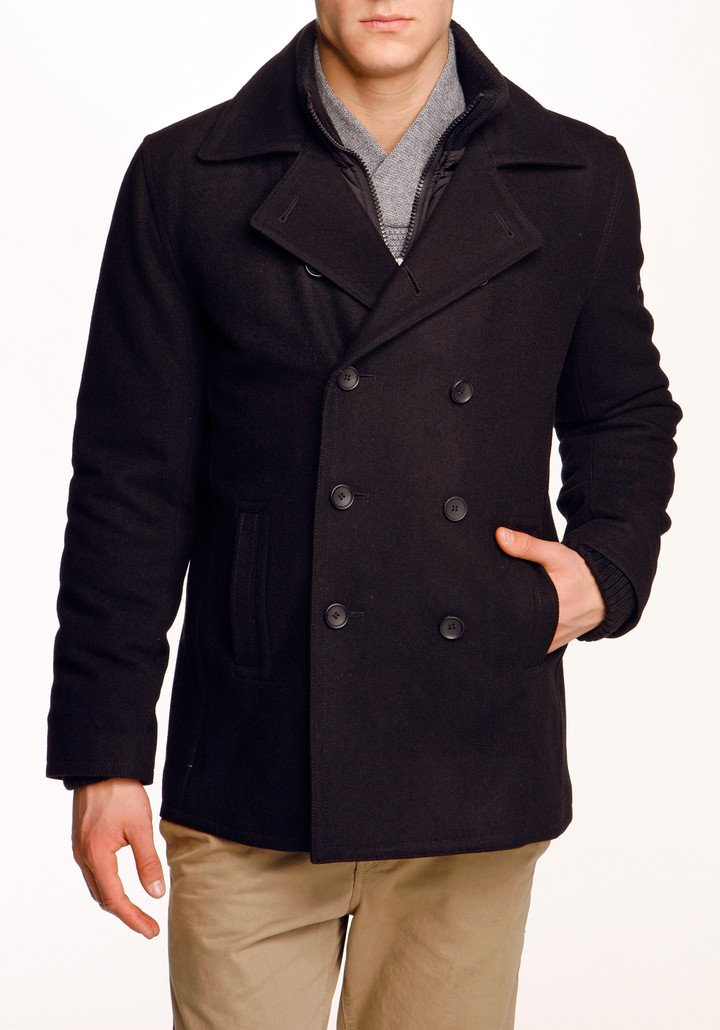 Ben Sherman Melton Pea Coat