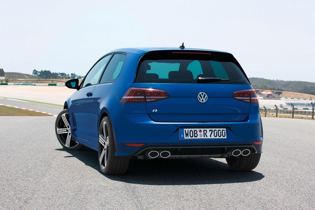VW Golf 7 R back