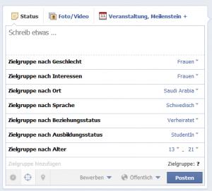 facebook posts targeting