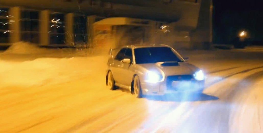 Subaru WRX STI Snow Drift