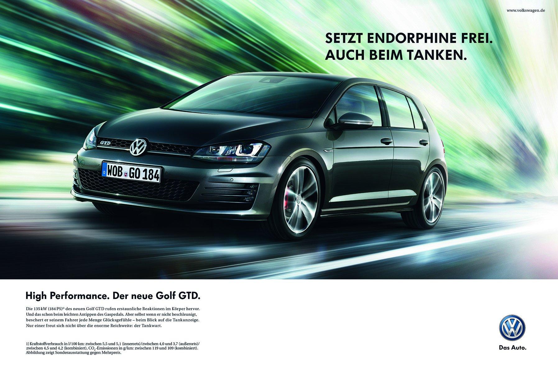 VW Golf GTD Werbespots