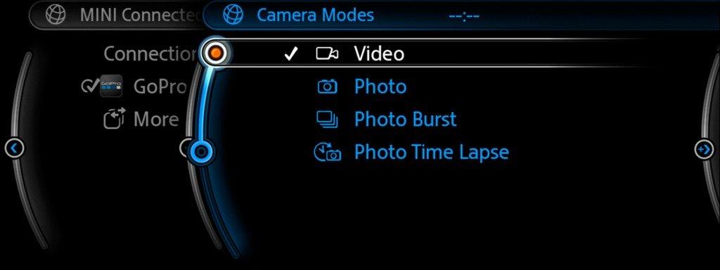 GoPro Kamera über MINI Connected steuern