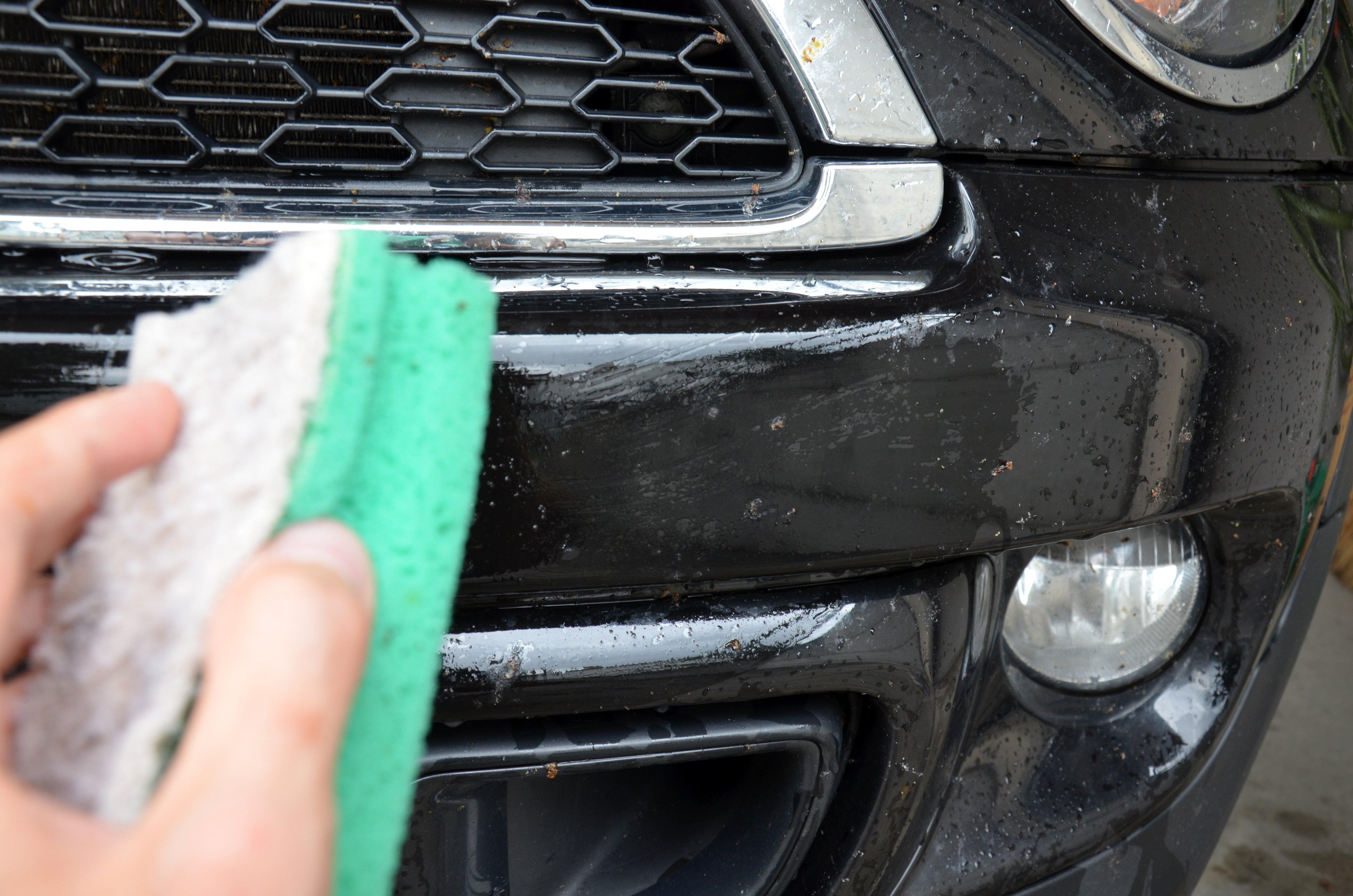 Insekten entfernen am Auto