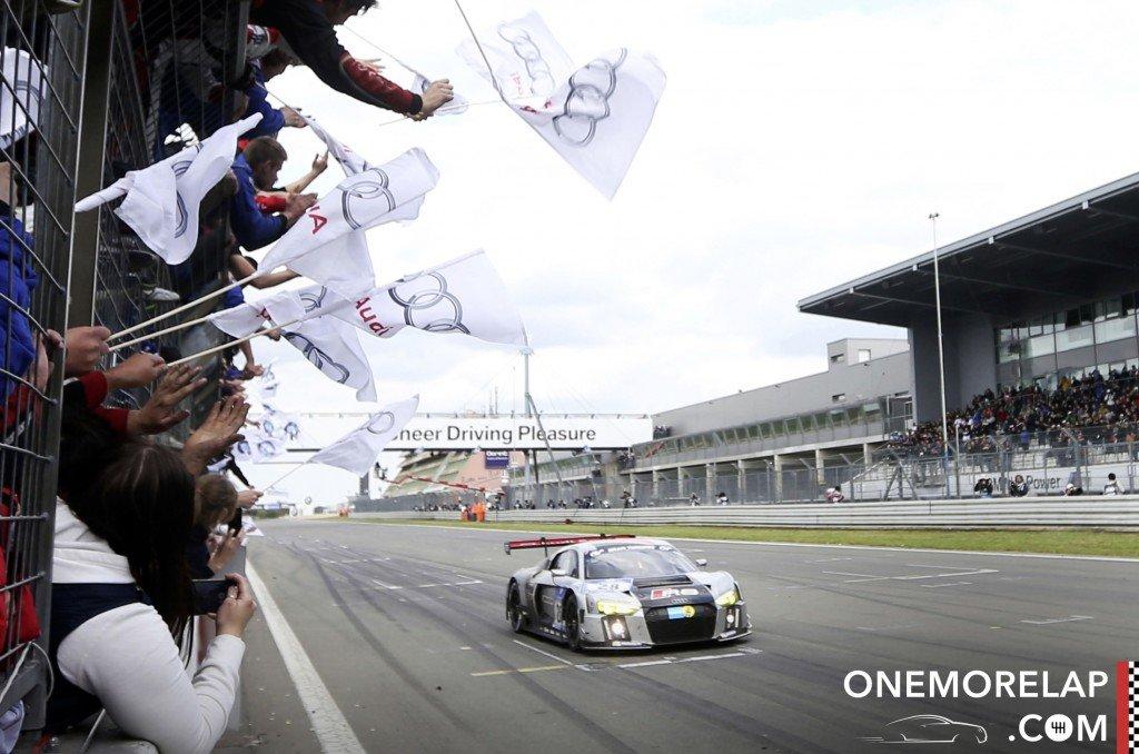 Das Siegerauto: Der Audi R8 LMS #28 vom Audi Sport Team WRT mit Christopher Mies, Nico Müller, Edward Sandstroem und Laurens Vanthoor