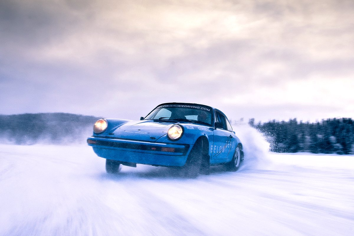 Below Zero Ice Driving - Porsche 911