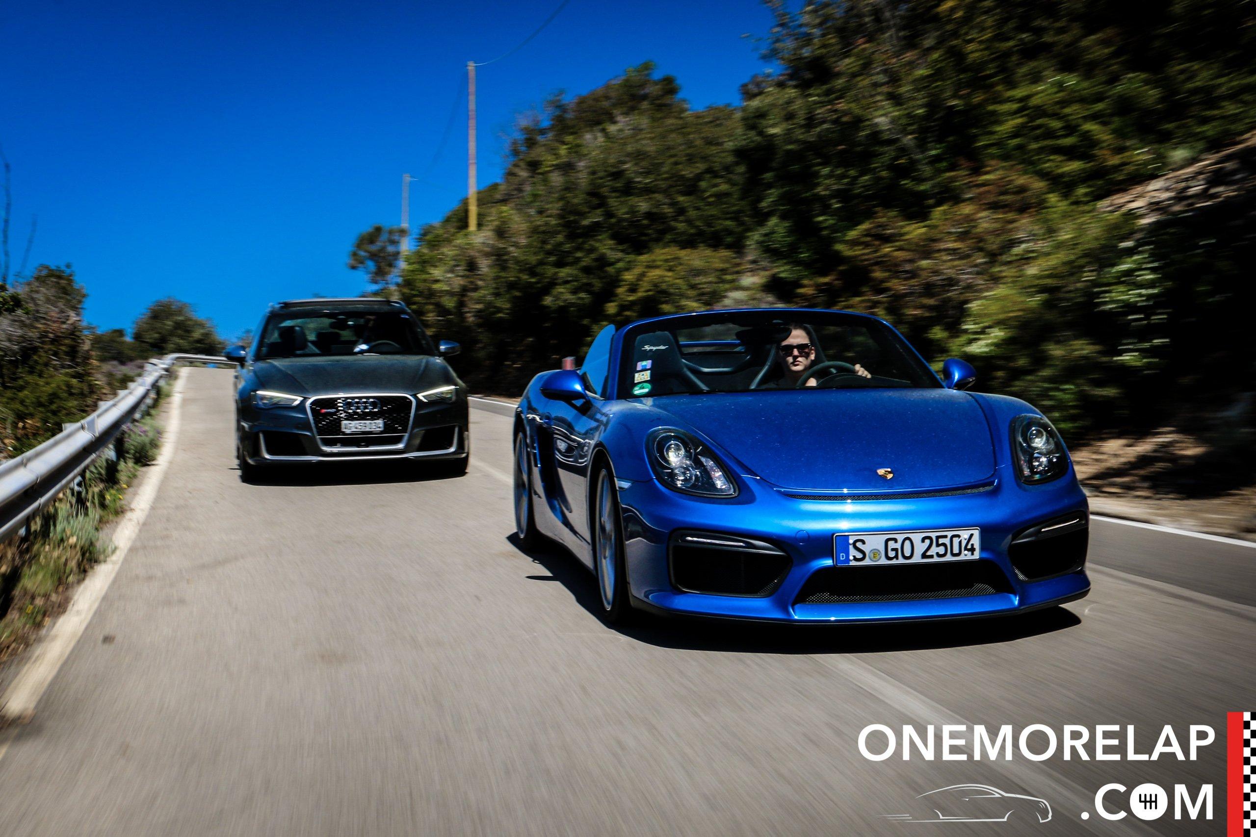 #RoadToElba: Porsche Boxster Spyder & Audi RS 3