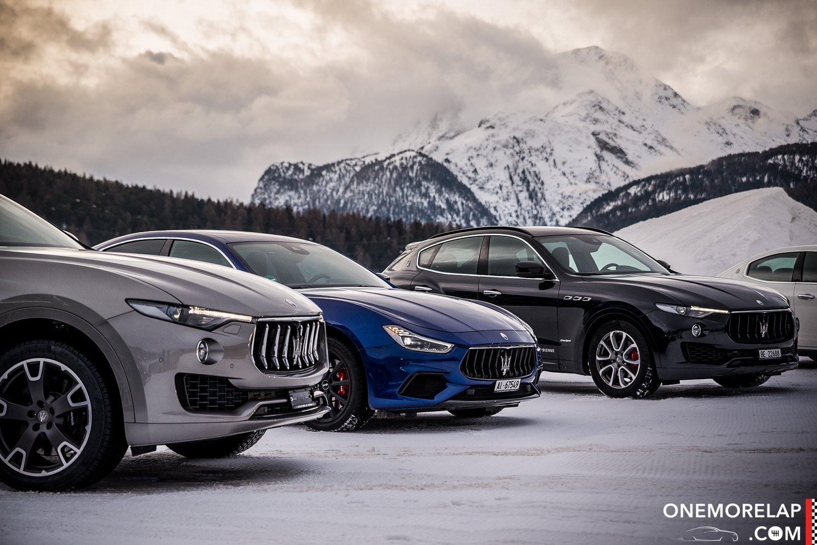 Mit Maserati beim SnowPolo St. Moritz 2018